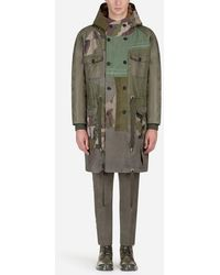 Dolce & Gabbana - Chaquetón Militar De Parches Con Forro De Pelo - Lyst