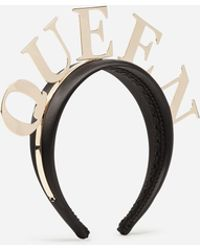 Dolce & Gabbana - Hairband With Queen Lettering - Lyst