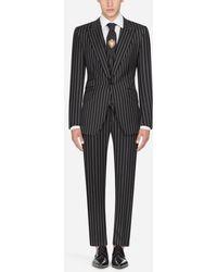 Dolce & Gabbana - Sicilia Suit In Pinstripe Stretch Wool - Lyst
