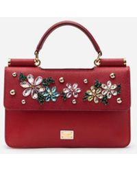 c30cb2ab2f2 Dolce   Gabbana - Sicily Mini Bag In Dauphine Calfskin With Embroidery -  Lyst