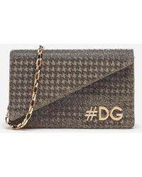 Dolce & Gabbana - Dg Girls Clutch In Lamé Knit - Lyst