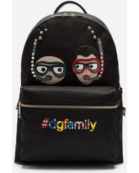 Dolce & Gabbana - Vulcano Backpack With Patches Of The Designers - Lyst