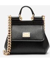 Dolce & Gabbana - Sicily Handbag In Printed Dauphine Calfskin - Lyst