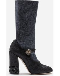 Dolce & Gabbana - Stretch Lycra Mary Janes With Sock - Lyst