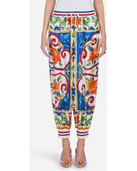 Dolce & Gabbana - Silk Jogging Trousers - Lyst