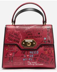Dolce & Gabbana - Welcome Handbag In Printed Leather - Lyst