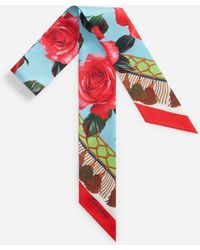 Dolce & Gabbana - Printed Silk Headband 6 X 100 Cm – 2.4 X 39.4 Inches - Lyst