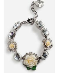 Dolce & Gabbana - Bracelet With Roses - Lyst