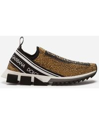 Dolce & Gabbana - Sneakers Sorrento Avec Cristaux Et Strass Thermocollés - Lyst
