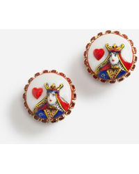 Dolce & Gabbana - Queen Of Hearts Earrings - Lyst