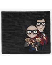 Dolce & Gabbana - Wallet In Leather With Designers' Patches - Lyst