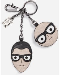 Dolce & Gabbana - Keychain With A Charm Of The Designers - Lyst