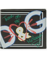Dolce & Gabbana - Printed Calfskin Wallet - Lyst