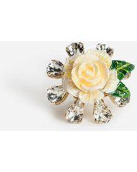 Dolce & Gabbana - Anillo Con Rosa - Lyst