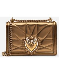 2c6150213b4d Dolce   Gabbana - Large Devotion Bag In Quilted Mordore Nappa - Lyst