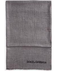 Dolce & Gabbana - Scarf In Cashmere - Lyst