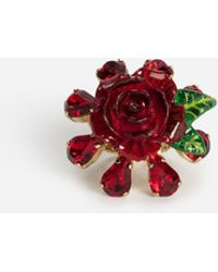 Dolce & Gabbana - Ring With Rose - Lyst