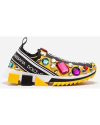 Dolce & Gabbana - Sorrento Sneakers With Embroidery - Lyst