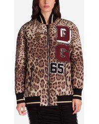 Dolce & Gabbana - Embellished Satin Bomber Jacket - Lyst