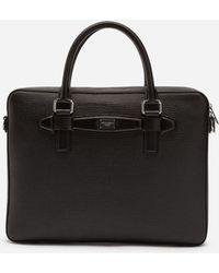 18aa299cf758 Dolce   Gabbana - Calfskin Laptop Briefcase - Lyst
