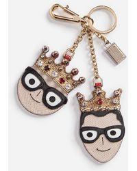 Dolce & Gabbana - Llavero Con Detalle De Los Diseñadores - Lyst