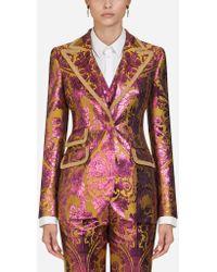 Dolce & Gabbana Single-breasted Lurex Jacquard Blazer