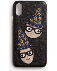 Dolce & Gabbana - Iphone X Cover In Dauphine Calfskin With Designers' Patches - Lyst