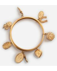 47504cdca227 Lyst - Pulsera con apliques florales Dolce   Gabbana
