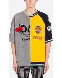 Dolce & Gabbana - Cotton Sweatshirt With Patch - Lyst