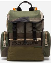 Dolce   Gabbana - Military Backpack In Canvas - Lyst 2627c257f177d