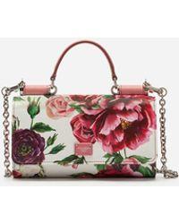 Dolce & Gabbana - Von Bag In Printed Dauphine Calfskin - Lyst