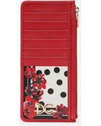 Dolce & Gabbana Portofino Textured-leather Cardholder