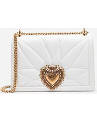 Dolce & Gabbana - Large Devotion Bag In Quilted Nappa Leather - Lyst