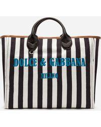 Dolce & Gabbana - Capri Wicker Shopping Handbag - Lyst