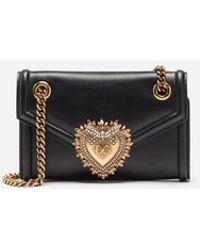 Dolce & Gabbana - Medium Devotion Bag In Smooth Calfskin Leather - Lyst