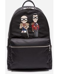 Dolce & Gabbana - Vulcano Backpack In Nylon With Designers' Patches - Lyst
