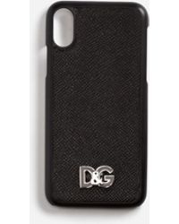 Dolce & Gabbana - Iphone X Cover In Dauphine Calfskin - Lyst