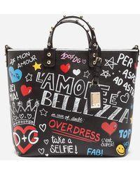 Dolce & Gabbana Women's New Prints - MEDIUM CAPRI SHOPPING BAG IN PRINTED CANVAS Excellent Cheap Price yu7od
