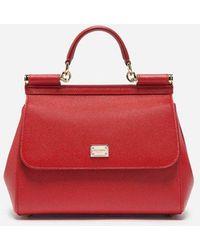 Dolce & Gabbana - Mittelgrosse Tasche Sicily Aus Dauphine-Leder - Lyst