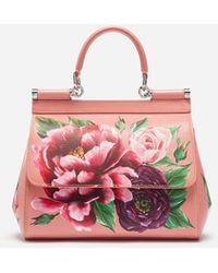 8a4d0e2d2d9 Dolce Gabbana - Medium Sicily Bag In Printed Dauphine Calfskin - Lyst online  store 4a77c 3264b ...