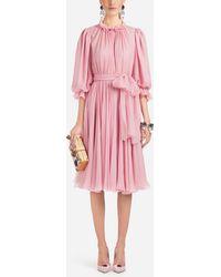 Dolce & Gabbana - Silk Dress - Lyst