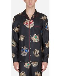 bc58f765 Gucci Silk Poplin Pajama Shirt in White for Men - Lyst