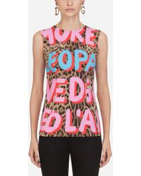 Dolce & Gabbana - Pop Leopard-print Viscose Top - Lyst