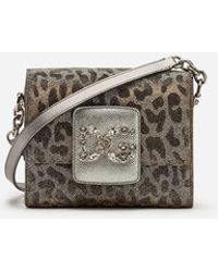 Dolce & Gabbana - Mini Sac Dg Millennials En Lurex Et Jacquard Léopard - Lyst