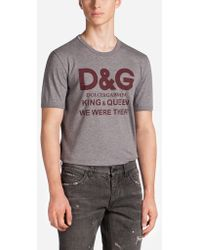 Dolce & Gabbana - T-shirt Runway - Lyst
