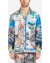 Dolce & Gabbana - Printed Silk Pajama Shirt - Lyst