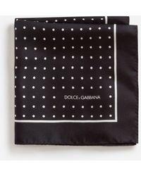 Dolce & Gabbana Mouchoir De Poche En Soie Avec Imprimé