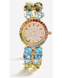 Dolce & Gabbana - Uhr Mit Mehrfarbigen Edelsteinen - Lyst