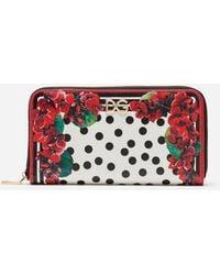 Dolce & Gabbana Portofino Print Zip-around Wallet