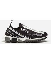 e2fc4e40d4e6 Dolce   Gabbana - Sneakers In Sorrento Graffiti Print - Lyst